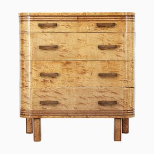 Finnish Art Deco Birch Chest of Drawers
