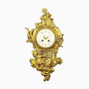 Louis XV Art Cartel Uhr von Philippe Caffieri