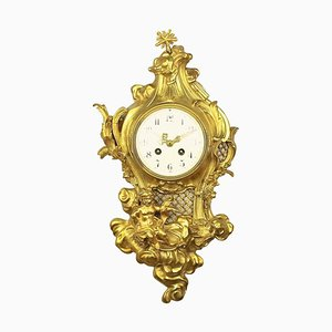 Louis XV Style Cartel Clock by Philippe Caffieri