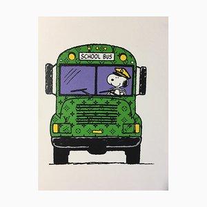 Death NYC, Snoopy LV Schulbus, 2012, siebdruck