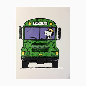 Stampa Death School, Snoopy LV School, 2012, serigrafia