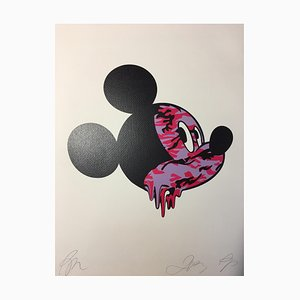 Death NYC, Mickey Tie and Dye, 2013, Silkscreen Print