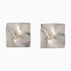 Modernistische Ohrringe aus Sterlingsilber aus Lapponia, Finnland, 1997, 2er-Set