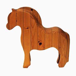 Norwegian Wood Horse Figurine Fjordingen, 1980s