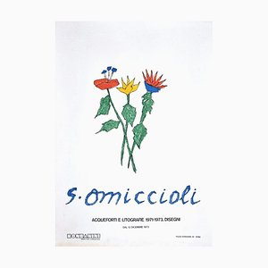 Giovanni Omiccioli, Blumen, Offsetdruck, 1973