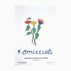 Stampa floreale di Giovanni Omiccioli, fiori, 1973