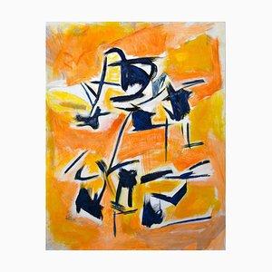 Giorgio Lo Fermo, Die orange Inspiration, Öl auf Leinwand, 2020