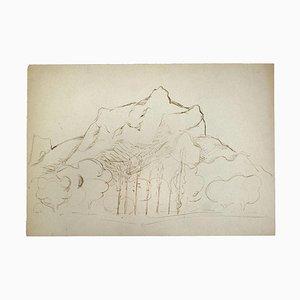 Herta Hausmann, Landschaft, Zeichnung in Feder, 1950