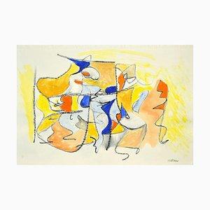 Giorgio Lo Fermo, Geometrische abstrakte Komposition, Mischtechnik, 2020