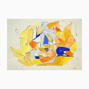 Giorgio Lo Fermo, Composition abstraite géométrique, technique mixte, 2020