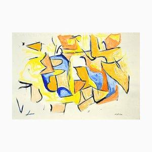 Giorgio Lo Fermo, L'inspiration orange, Technique mixte, 2020
