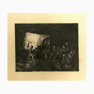 Unknown, The Shelter, Etching, 20th Century