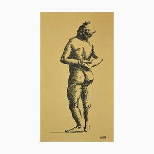Jean Chapin, Aktfigur, Tinte auf Papier, Anfang des 20. Jahrhunderts