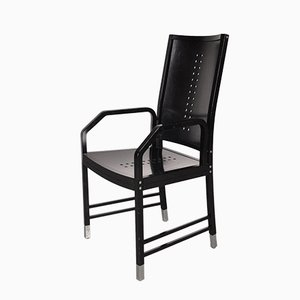 Black Wooden Dining Chair by Michael Thonet for Thonet, 1930s