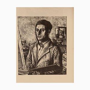 Diego Pettinelli, Selbstbildnis, Lithografie auf Papier, 1939