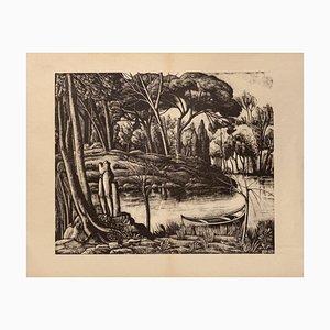 Diego Pettinelli, Landscape, Lithografie auf Papier, 1937