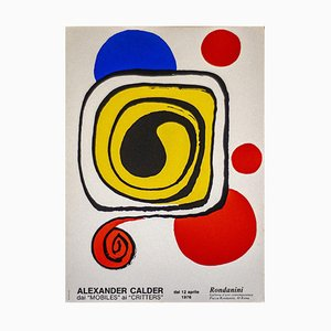 Affiche Calder, Alexander Calder, Affiche Lithographique, 1976