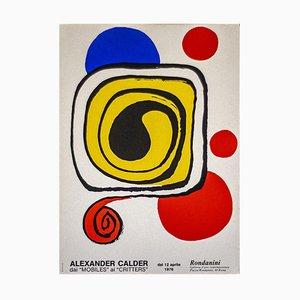 Alexander Calder, Alexander Calder Ausstellungsposter, Lithografie Poster, 1976