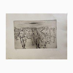 Anselmo Bucci, Military Life, Radierung, 1917