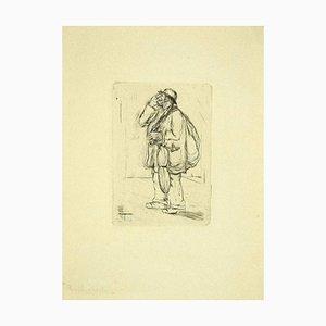 Aldo Borgonzoni, The Junk, Radierung, spätes 20. Jahrhundert