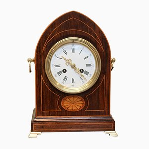 Rosewood Lancet Top Mantel Clock