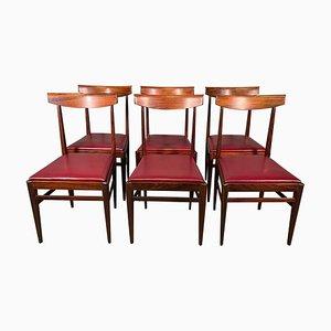 Palisander Esszimmerstühle von Vittorio Dassi Lissone, 6er Set