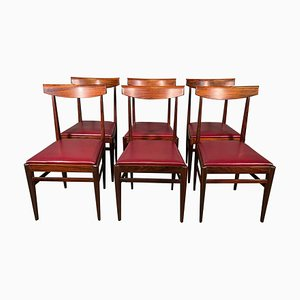 Rosewood Dining Chairs by Vittorio Dassi Lissone, Set of 6