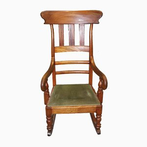 Mahogany Country Style Rocking Chair, 1910s