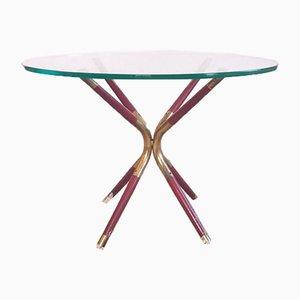 Table Basse Vintage en Verre par Cesare Lacca, Italie, 1958