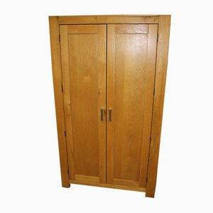 Country Golden Oak 2-Door Wardrobe, 1970s