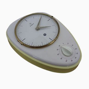 Horloge Murale avec Horloge Egg par Max Bill pour Junghans, 1950s