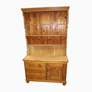Country Pine Original Dresser with Display Rack, 1920s