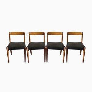 Chaises de Salon en Teck et Cuir par HW Klein pour Bramin, Danemark, 1960s, Set de 4