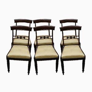 Chaises de Salon Barback en Acajou, 1940s, Set de 6