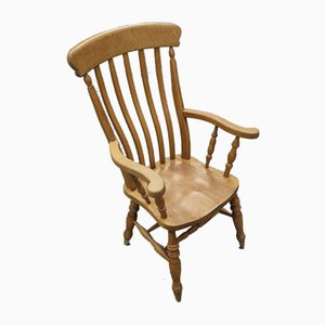 Country Golden Beech Carver Chair, 1960s