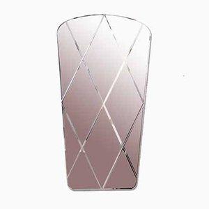 Freeform Engraved Diamond Mirror, 1970s