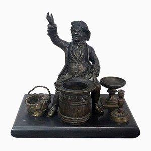 Calamaio in bronzo, fine XIX secolo