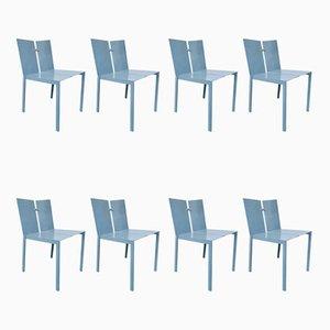Chaises de Bureau par Frans Van Praet, 1990s, Set de 8