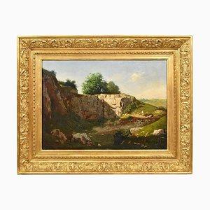 Hippolyte Rith, Landschaft, 19. Jahrhundert, Öl auf Leinwand