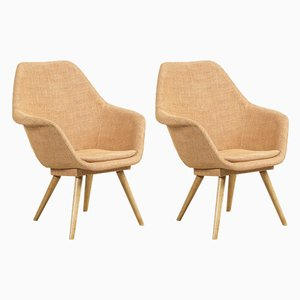 Bucket Armchairs by Miroslav Navratil, 1960s, Set of 2