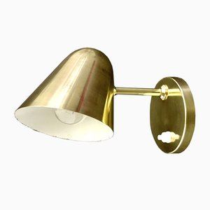 Mid-Century Brass Adjustable Wall Lamp / Sconce by Jacques Biny for Luminalité, 1950s