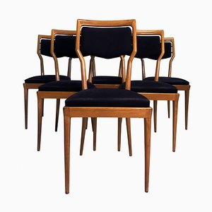 Italian Dining Chairs by Vittorio Dassi for Dassi, 1950s, Set of 6