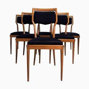 Italienische Esszimmerstühle von Vittorio Dassi für Dassi, 1950er, 6er Set
