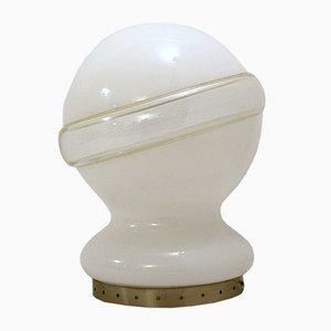 Italienische Glas Tischlampe, 1960er