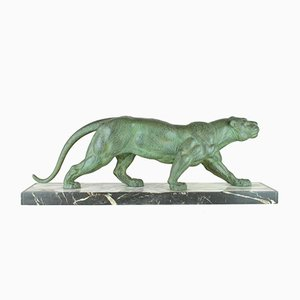 DH Chiparus, Panther Marchant, Metal Sculpture, 20th Century