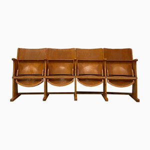 Mid-Century 4-Seater Cinema Bench from TON