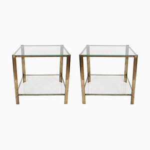 Square Side Tables by Jacques Quinet, 1960s, Set of 2