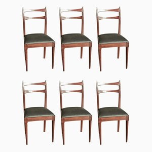 Vintage Dining Room Chairs, 1970s, Set of 6