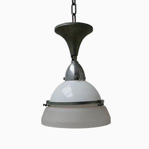 Mid-Century Two-Toned Ceiling Lamp