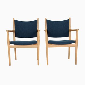 Model PP 513 Armchairs by Hans J. Wegner for PP Møbler, 1970s, Set of 2